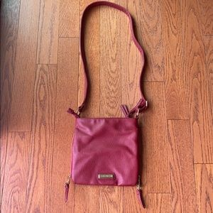 Steve Madden Red Genuine Leather Corssbody Bag